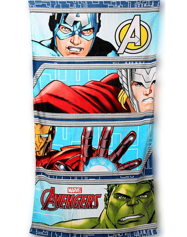 Boys Official Licensed Avengers Cotton Beach Towel 140X70 - Character Direct