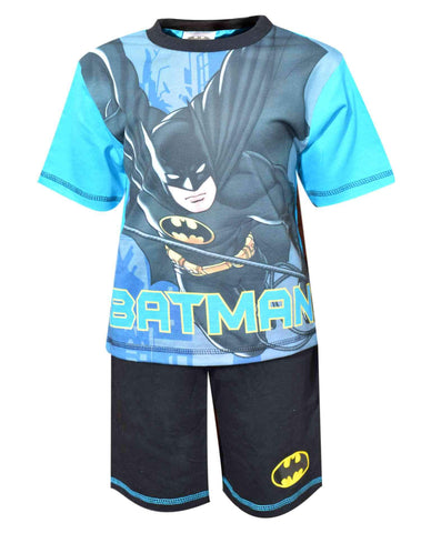 Boys Official Licensed Batmans Short Pyjamas Age 4-10 Years - Character Direct