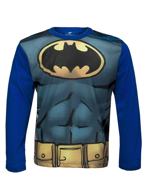 Official Batman Boys Costume Print Tshirt Top Age 3 to 12 Years - Character Direct