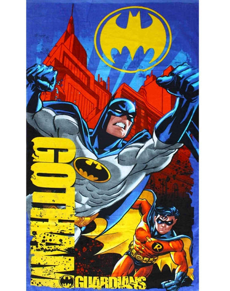 Boys Official Licensed Batman Cotton Beach Towel 140X70 - Character Direct