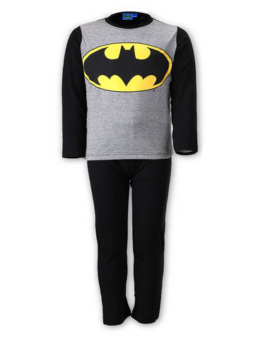Boys Official Batman Long Length Cotton Print Pyjamas Age 6 to 12 Years - Character Direct