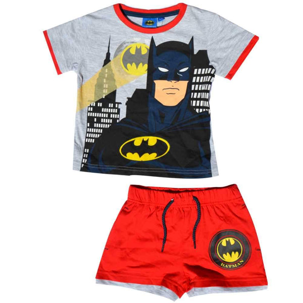 Boys Official Licensed Batmans Short Pyjamas Age 2 to 8 Years - Character Direct