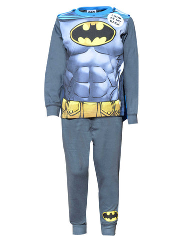 Boys Batman Novelty Pyjama With Cape 2-8 Years - Character Direct