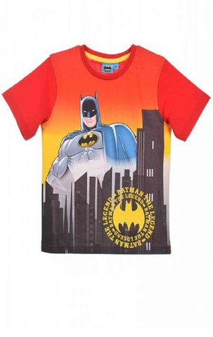 DC Comics Batman Boys Black Top T-Shirt Age 2-8 Years - Character Direct