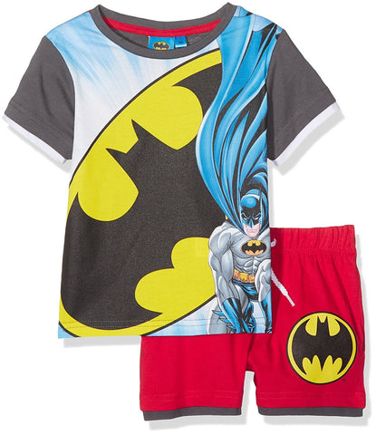 Boys Official Licensed Batman Short Pyjamas Age 3 to 8 Years - Character Direct