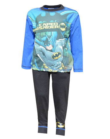 Boys Batman Long Length Sublimation Print Pyjamas Age 4 to 10 Years - Character Direct