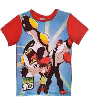 Boys Official Licensed Ben10 Tshirt Top Age 3 to 8 Years - Character Direct