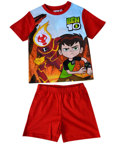 Boys Official Licensed Ben 10 Short Pyjamas Age 3 to 8 Years - Character Direct