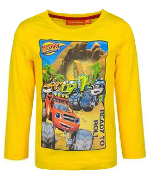 Boys Official Blaze and the Monster Machine Cotton Tshirt Age 2-8 Years - Character Direct