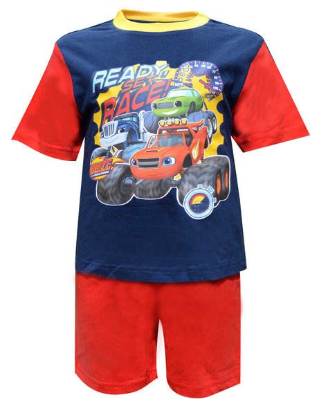 Boys Official Licensed Blaze and the Monster Machines Short Pyjamas Age 1 to 4 Years - Character Direct