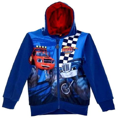 Offical Blaze and the Monster Machine Jumper Hooded Sweat Top  Age 2 to 8 Yrs - Character Direct