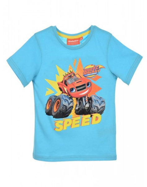 Boys Official Blaze and the Monster Machine Cotton Tshirt Age 2 to 8 Years - Character Direct