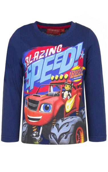 Boys Official Blaze and the Monster Machine Cotton Tshirt Age 2 to 6 Years - Character Direct