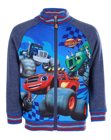 Boys Offical Blaze and the Monster Machine Jumper Sweater Sweat Top  Age 3 to 8 Yrs in Blue - Character Direct
