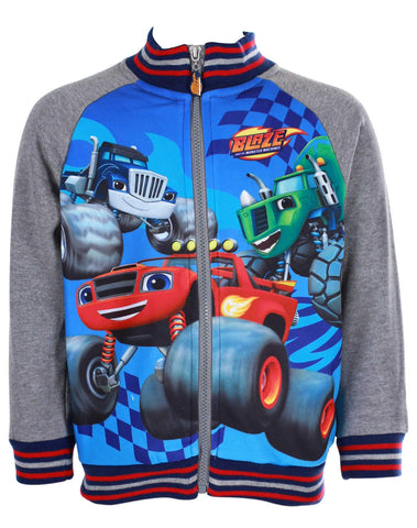 Boys Offical Blaze and the Monster Machine Jumper Sweater Sweat Top  Age 3 to 8 Yrs in Grey - Character Direct