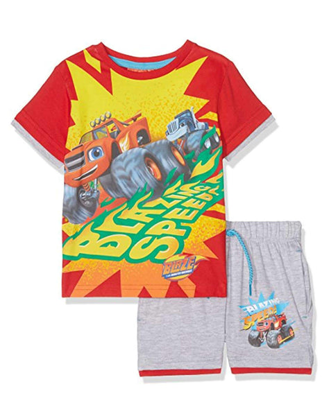 Boys Official Licensed Blaze and the Monster Machine Short Pyjamas Age 3 to 8 Years - Character Direct