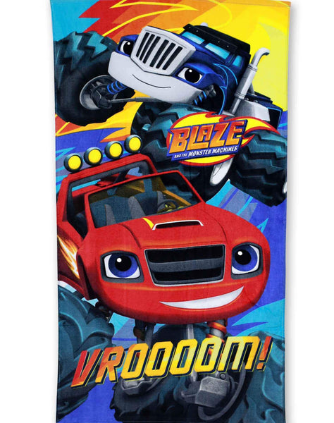 Kids Boys Blaze Cotton Towel 140X70 cms - Character Direct