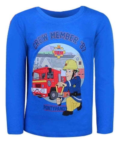 Boys Fireman Sam T-Shirt - Character Direct