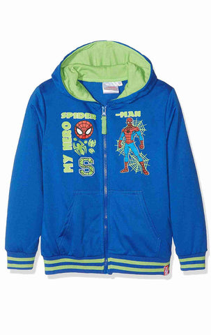 Boys Spiderman Hooded Zipped Hooded Top Sweaters Jacket Age 3 to 8 Years - Character Direct