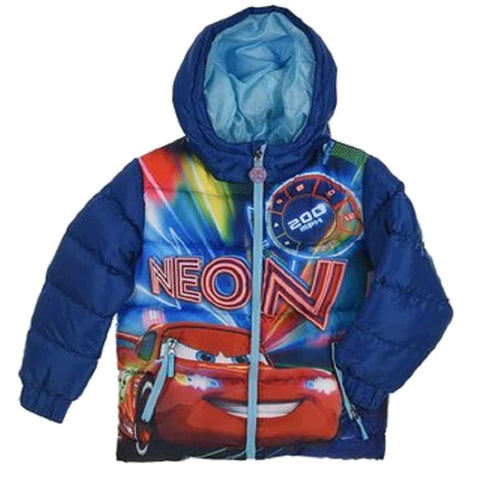 Boys Disney Cars Hooded Puffer Jacket - Character Direct