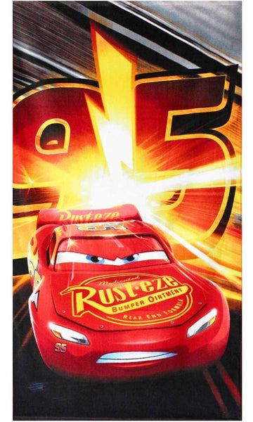 Kids Boys Official Licensed Disney Cars Cotton Towel 140X70cms - Character Direct