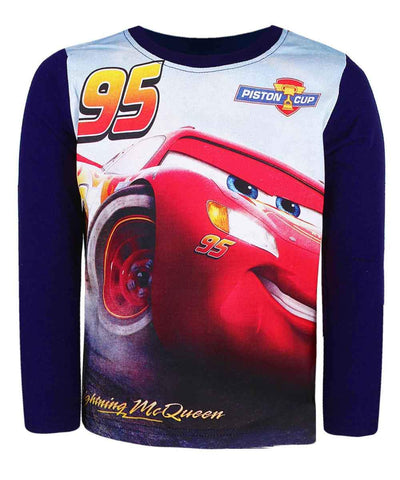 Disney Pixar Cars Boys Long Sleeve Cotton T-Shirt Age 2-8 Years