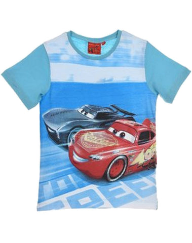 Disney Pixar Cars Boys Short Sleeve T-Shirt Age 3-8 Years