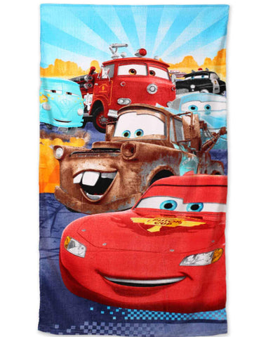 Kids Boys Offical Licensed Disney Cars Cotton Towel 140X70 cms