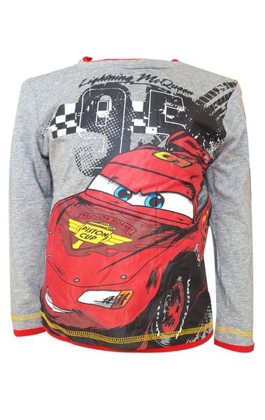 Disney Pixar Cars Boys Long Sleeve T-Shirt Age 3 to 8 Years - Character Direct