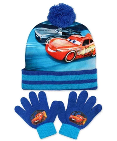 Official Boys Disney Pixar Cars Gloves and Beanie Hat Set One size 3-8 Years - Character Direct