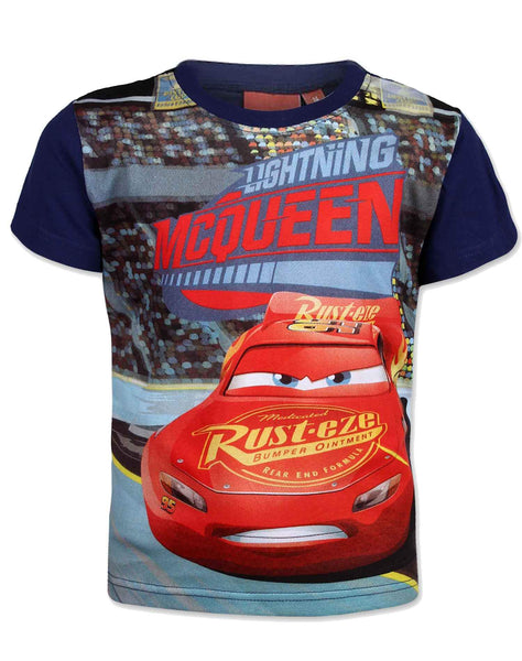 Disney Pixar Cars Boys Short Sleeve T-Shirt Age 2,3,4,5,6,7,8 Years - Character Direct