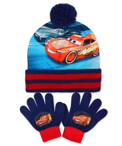 Official Boys Disney Pixar Cars Gloves and Beanie Hat Set One size 3-8 Years