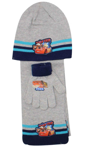 Official Boys Disney Cars Hat Gloves and Beanie Hat Set One size 3-7 Years - Character Direct