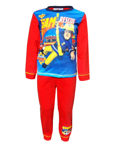 Boys Official Fireman Sam to the rescue Pyjamas Age 1.5 to 5 Years - Character Direct