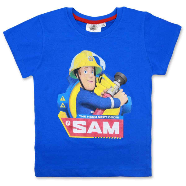 Boys Fireman Sam Long Sleeve Cotton T-Shirt Age 3-8 Years - Character Direct