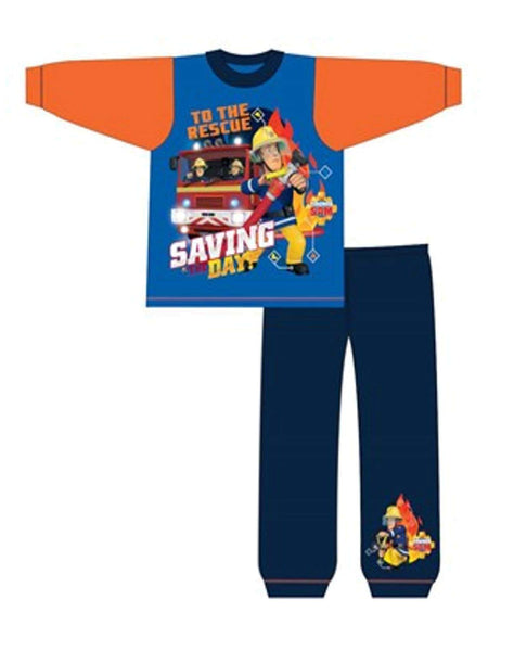 Boys Official Fireman Sam to the rescue Pyjamas Age 1.5 to 2 Years - Character Direct