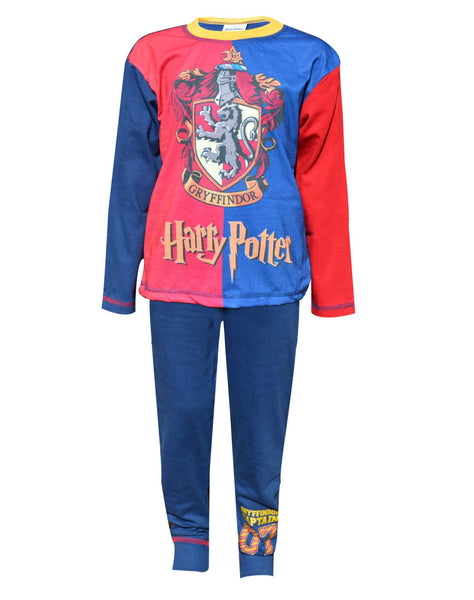 Boys Harry Potter Gryffindor Hogwarts Pyjamas Age 5 to 12 Years - Character Direct