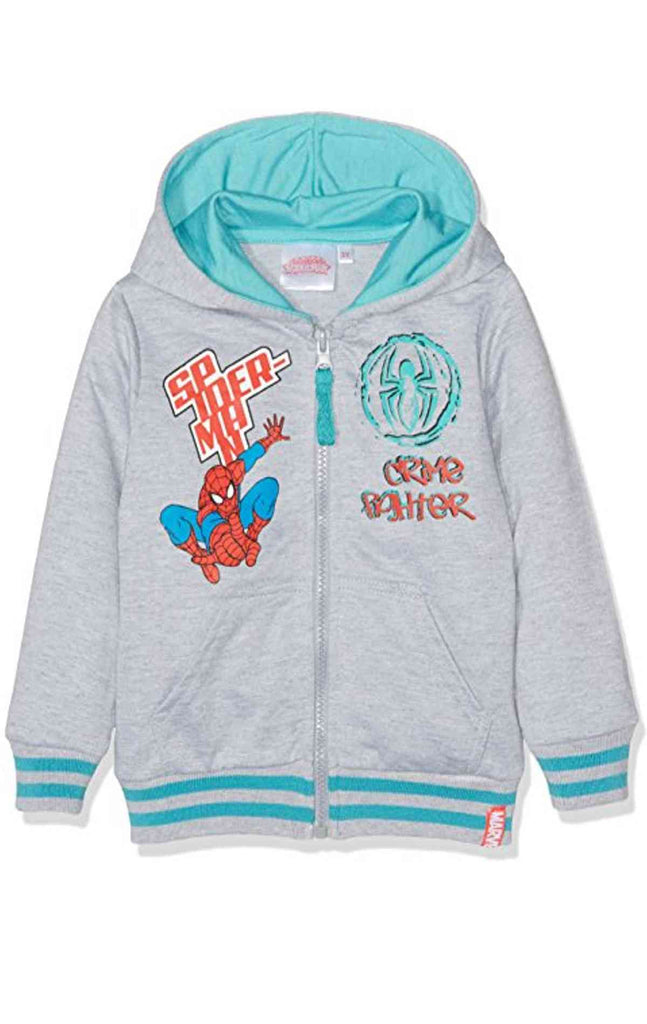 00297ddea Boys Spiderman Hooded Zipped Hooded Top Sweaters Jacket Age 3 to 8 ...