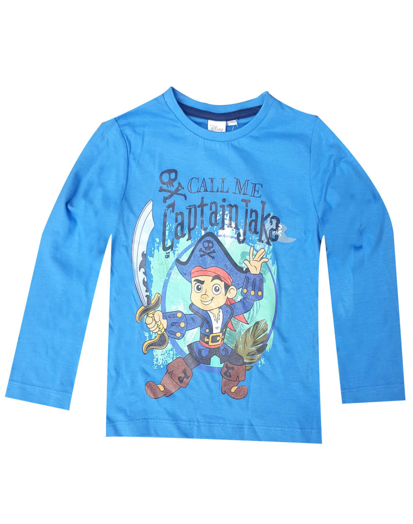 4e48201cb2 Disney Boys Jake and the Never Land Pirates Printed Cotton T-Shirt Top Age 3