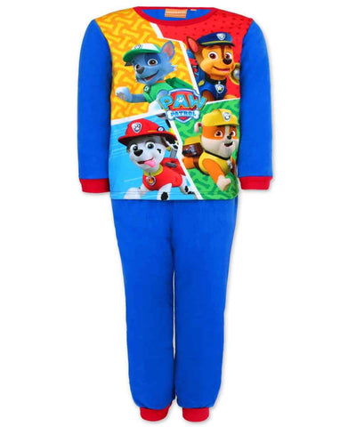 Boys Paw Patrol Printed Fleece Polar Long Length Pyjamas Age 3 to 8 Years - Character Direct