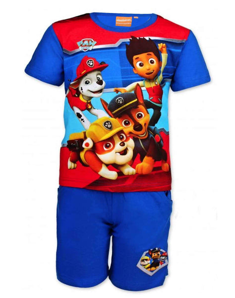 Official Boys Paw Patrol Short Pyjamas Beach Set in Light Blue 2 to 8 Years