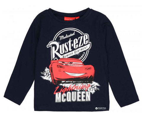 Disney Pixar Cars Boys Long Sleeve Cotton T-Shirt Age 2-8 Years - Character Direct
