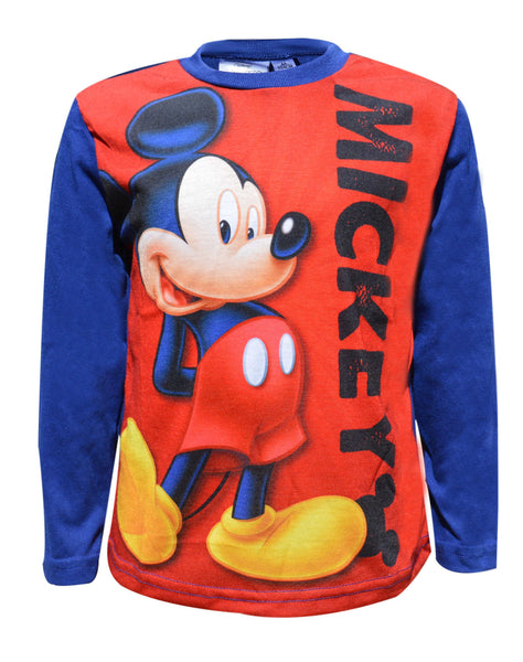 Disney Boys Mickey Mouse Print Top T-Shirt Age 3 to 8 Years - Character Direct