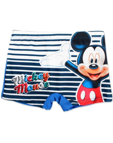 Boys Official Licensed Mickey Mouse Print Swim Shorts Age 1 to 6 Years - Character Direct