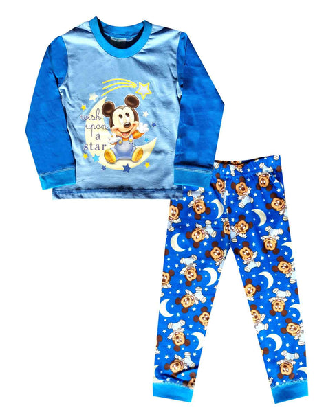 Boys Official Licensed Mickey Mouse Long Length Pyjamas Age 6 Months to 4 Years - Character Direct