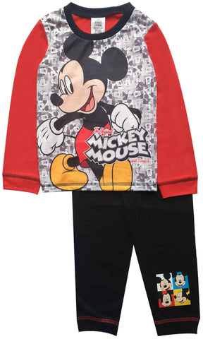 Kids Boys Mickey Mouse Pyjamas 1-4 Years - Character Direct