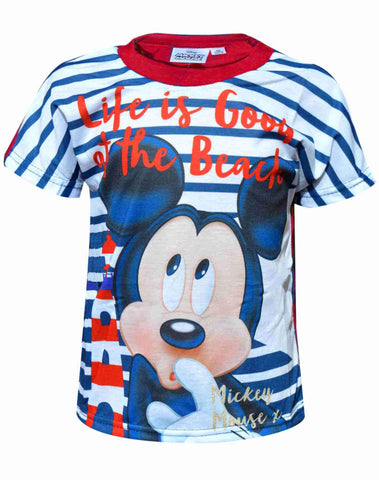 Disney Boys Mickey Mouse Print Top T-Shirt - Character Direct