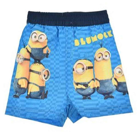 Boys Official Licensed Minions Print Swim Shorts Age 2 to 8 Years - Character Direct