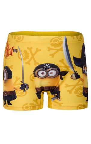 Boys Minions Swim Shorts Age 2-11 Years - Character Direct