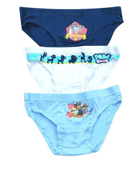 Boys Official Paw Patrol 3 Piece Knicker Brief Underwear Set Age 2-8 Years - Character Direct